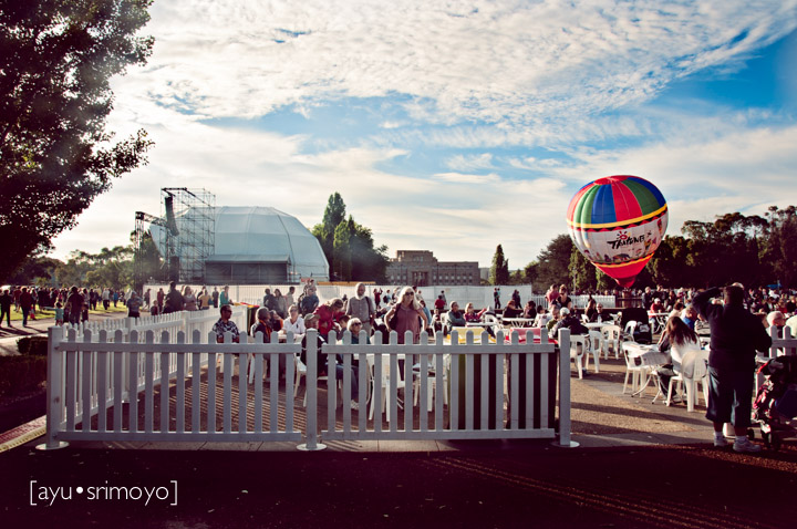 A gorgeous morning to hang out and watch the hot air ballons