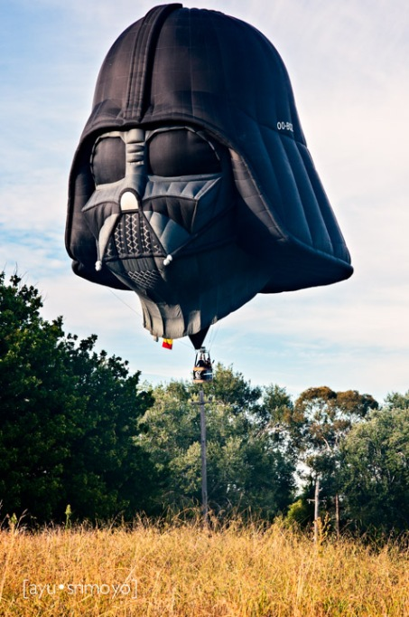 Darth Vader was about to land