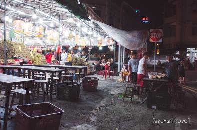 at durian stall - geylang, singapore