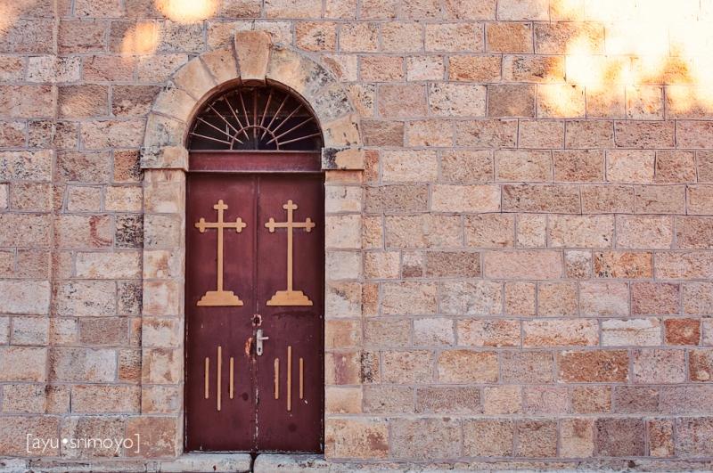 Church Door, St George Church, Madaba, Jordan