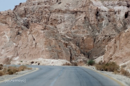 Along the rocky hills, Dead Sea Highway to Petra, Jordan
