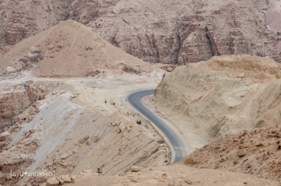 Looking Down, Dead Sea Highway to Petra, Jordan