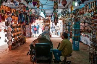 The souvenir shop at the Treasury, Petra, Jordan