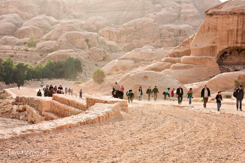 Toward Exit, Petra, Jordan