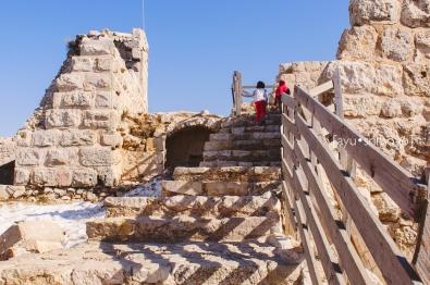 Outside the Tower, Ajlun Castle, Jordan