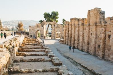 The old shopping strip, Jerash, Jordan