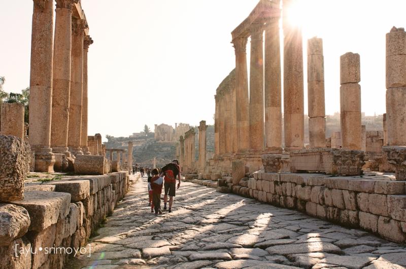 Low Sun, Colonnaded St, Jerash, Jordan