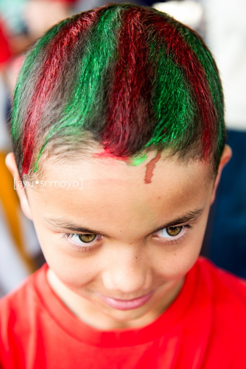 colorful hair boy