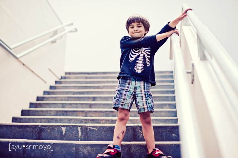 boy on stairs