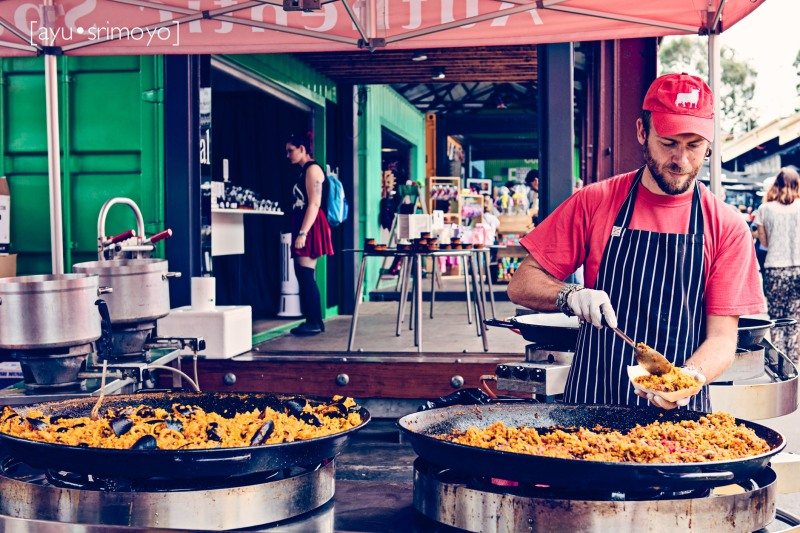47/52 - Paella Vendor, Queen Victoria Market